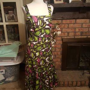 Midi plus size suspender style dress